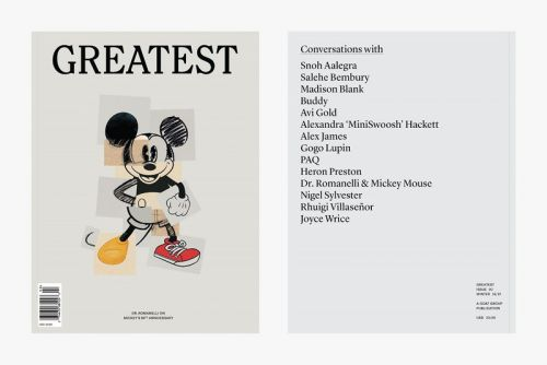 'Issue 02' of GOAT's 'Greatest' Magazine Spotlights Dr. Romanelli, Mickey Mouse, Heron Preston & More
