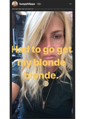 Busy Philipps Has Mastered the Blonde Hair, Dark Brows Combo