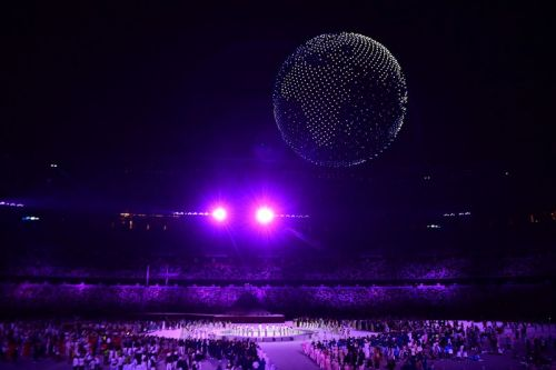 Watch 1,824 Drones Light Up the Sky at the 2021 Tokyo Olympics Opening Ceremony
