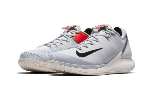"NikeCourt Air Zoom Zero QS Debuts in ""Pure Platinum/Red Orbit"""