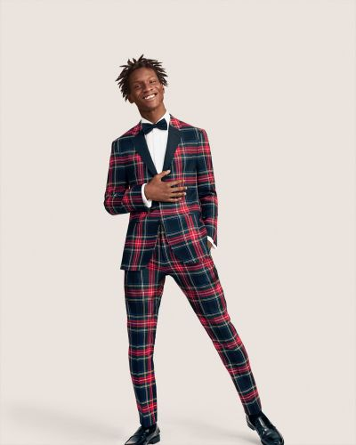 Adonis Bosso is Dapper in Tartan for Tommy Hilfiger Holiday '18 Campaign