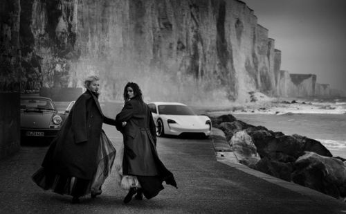 Peter Lindbergh photographs Porsche through fashion lens