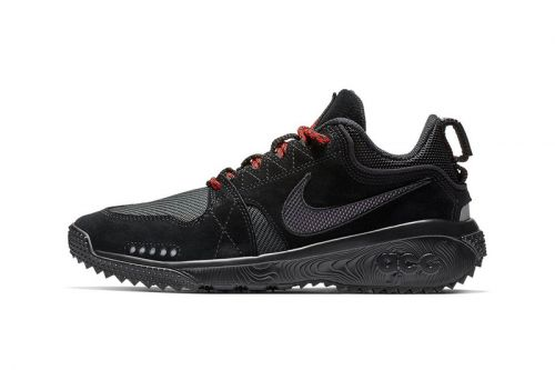 "Nike ACG Dog Mountain Accents the ""Triple Black"" Scheme With Red Laces"