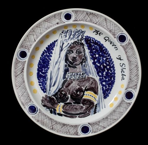 Crockery Painted with Portraits of Famous Women from History