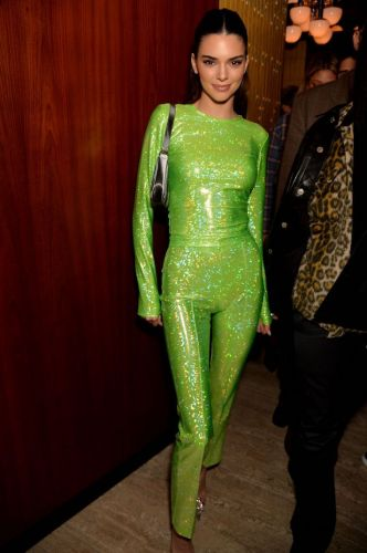 Kendall Jenner Is Out Here Looking Like a Neon Green Highlighter, but She Somehow Still Rocks It