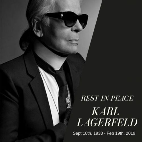 Rest in Peace Karl Lagerfeld