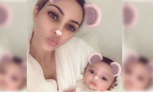 Chicago West Looks Just Like Her Mommy Kim Kardashian With a Makeup Insta Filter