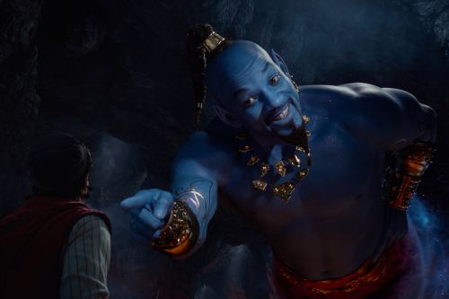 "First Look at Will Smith as the Blue Genie in ""Aladdin"" Has People Feeling ""Haunted"""