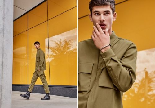 Finn Hayton Embraces Minimal Military Style for Simons