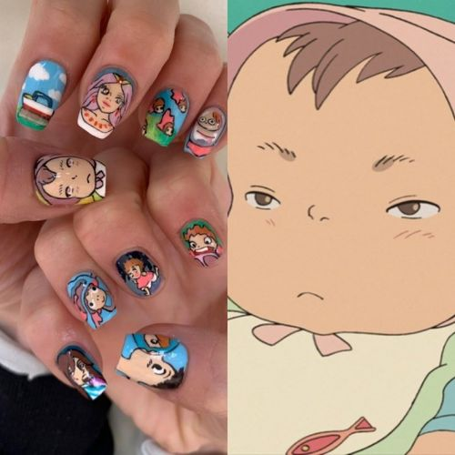 Hunter Schafer has Studio Ghibli-inspired Ponyo nails and we're obsessed
