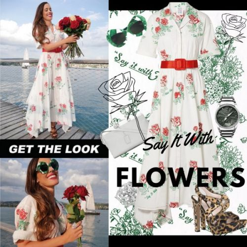 My Look: Say It With Flowers