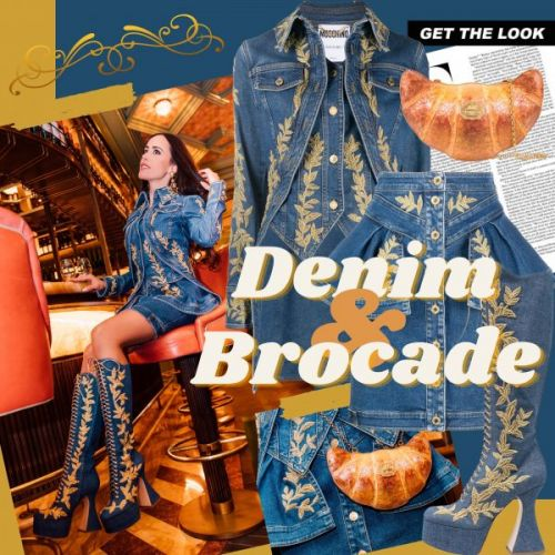 My Look: Denim & Brocade