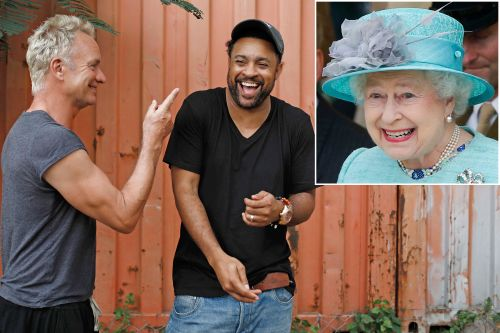 Shaggy and Sting get ready to jam for the Queen