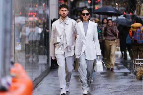 Look of the Week: Channel Monochromatic Style With Clean White and Greys