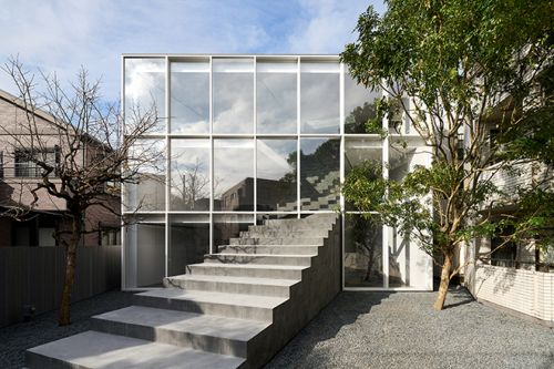 Nendo Constructs The Stairway House Like a Semi-Outdoor Greenhouse