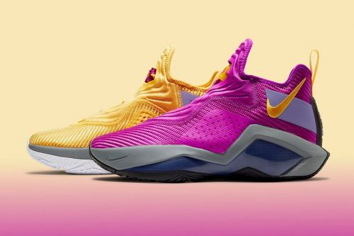"""The Nike LeBron Soldier 14 """"Lakers"""" Honors the Team's Signature Yellow and Purple"""