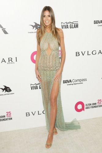 Heidi Klum was bombshell-beautiful in GEORGES HOBEIKA to the