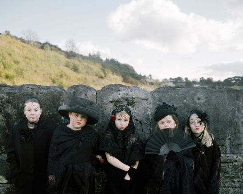 Welsh Children Wearing Fashion in the South Wales Valleys