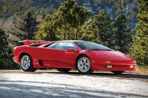 Mario Andretti's Red 1991 Lamborghini Diablo Is Being Auctioned by Sotheby's