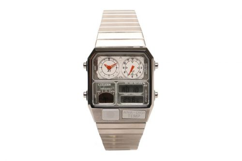 BEAMS and Citizen Harken Back to the '80s With Silver Ana-Digi Temp Watch