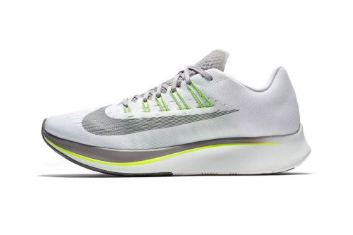 """Nike Treats the Zoom Fly to A """"White/Sport Grey/Volt"""" Makeover"""