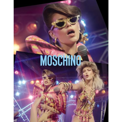 Kaia, Gigi & The Gang Form A 1980s Rock Band for Moschino's SS20 Campaign