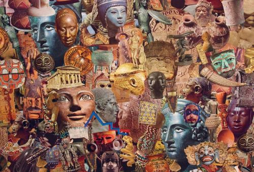 The Artist Recontextualising the History of Art Through Collage