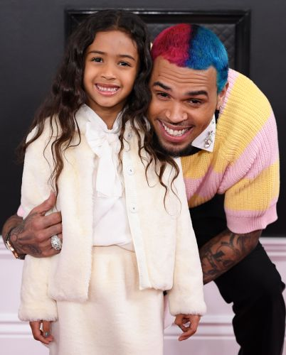 Chris Brown's Adorable Daughter Royalty Steals the Show on the 2020 Grammys Red Carpet