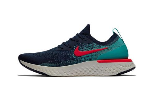 """Nike Epic React Flyknit Gets a Bold """"College Navy/Jade"""" Colorway"""