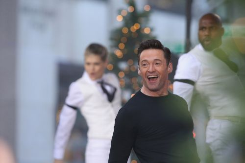 Hugh Jackman hypes new tour with backup dancers, orchestra