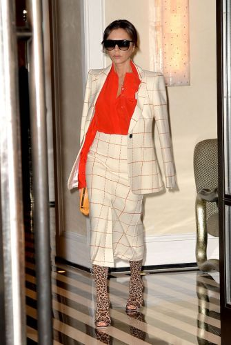 Victoria Beckham's Wild Pattern Mixing Is Honestly Out of this World