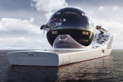 """""""Earth 300"""" Is a Nuclear-Powered $700m USD Yatch That Wants to Save the World"""