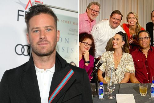 Elizabeth Chambers judges cookout amid Armie Hammer 'cannibal' scandal