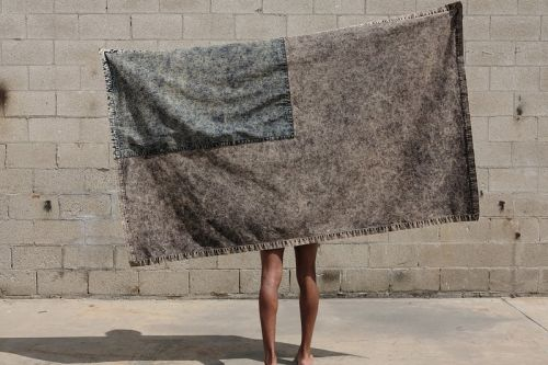 "S.R. STUDIO. LA. CA.'s ""VEIL FLAG"" Is Part Wall Hanging, Part Shawl, and Completely Charitable"