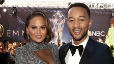 John Legend And Chrissy Teigen Bring The Sparkle To 2018 Emmys Red Carpet