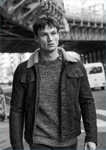 Max Bender Goes Casual for Camel Active Denim Fall '18 Campaign