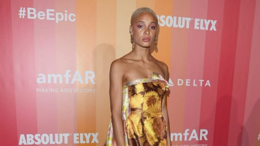 Great Outfits in Fashion History: Adwoa Aboah in Double-Floral-Printed Richard Quinn