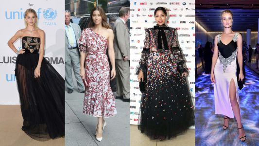 Celebrities Wore Plenty of Florals and Frills on the Red Carpet This Week