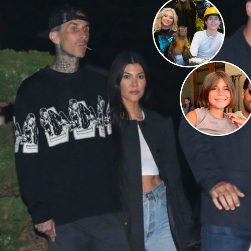 Travis Barker and Kourtney Kardashian Enjoy Fun Day Out With His Kids and Her Daughter Penelope