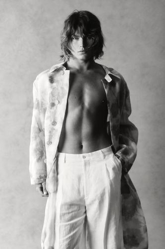Jordan Barrett Hits the Studio in Fendi for GQ Style Australia