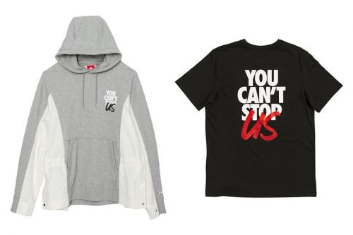 """Sacai and Nike Issue Custom """"You Can't Stop Us"""" Clothing"""