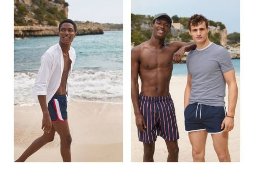 Hamid Onifade & Julian Schneyder Are Vacation-Ready in H&M Swimwear
