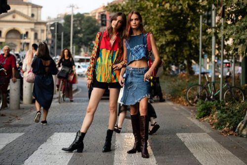 See what the models are wearing off-duty in Milan! Day 1