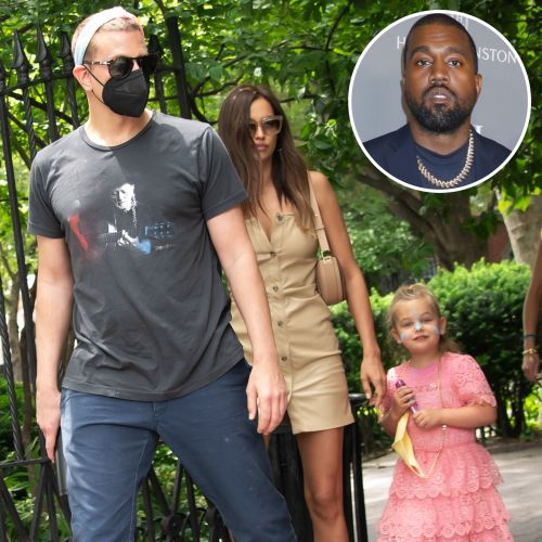 Irina Shayk Stepped Out With Ex Bradley Cooper and Daughter Lea Days Before Kanye West Date in France