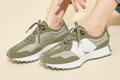 """BEAUTY & YOUTH Uncovers Bespoke New Balance 327 """"Olive"""" Colorway"""