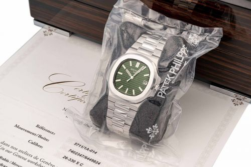 Olive Green Patek Philippe Nautilus Sells For Nearly x11 Retail at $376,000 USD