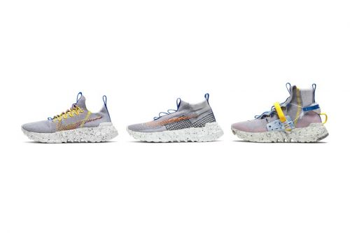 """Nike's Sustainable Space Hippie 01, 02, and 03 Arrive in """"Photon Dust"""""""