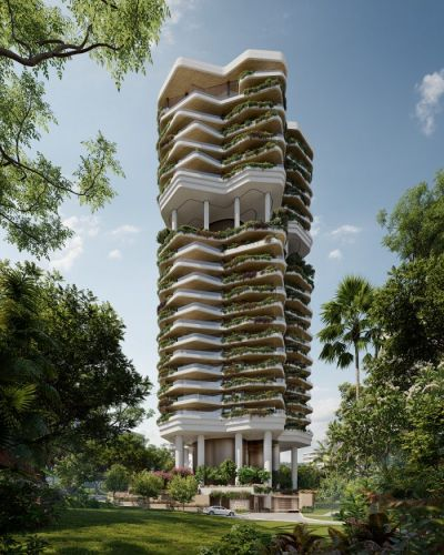 Futuristic Garden Tower to be Built in Singapore