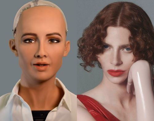 Watch SOPHIE and Sophia the Robot discuss the future of creativity
