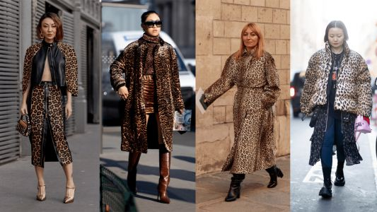 According to the Street Style Crowd at Couture, Leopard Is Back, Baby!